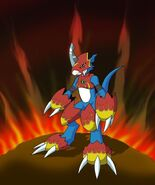 Flamedramon by 0oR4z0ro0