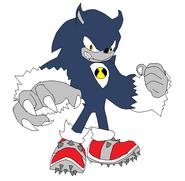 Despixeleo de Sonic Lobo Mutante Alien Jarcord Badass by Kirby64000