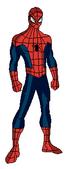 Ultimate Spiderman pose