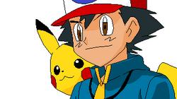 Ash y Pikachu Despixeleado