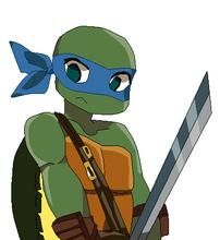 Leonardo TMNT despixeleado