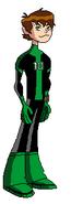 Pose de Ben 10 con su traje Creditos a BenTai