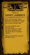 Voice of Sammy lawrence