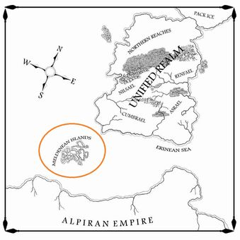 Raven s shadow book 1 main map by drawman39-meldenean islands.jpg