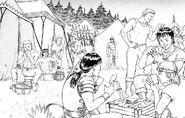 Banda del Halcón en campamento