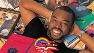 Leavar Burton with Reading Rainbow logo