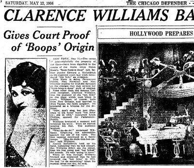 African Americans Boop Boop a Doop Origin 1934 Clarence Williams.jpg