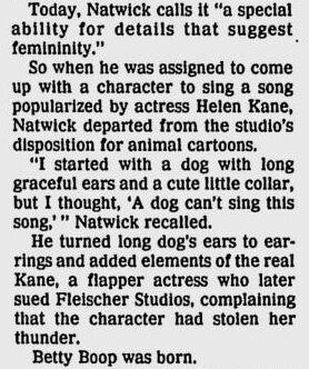 Grim Natwick on Creation of Betty Boop 1990.jpg