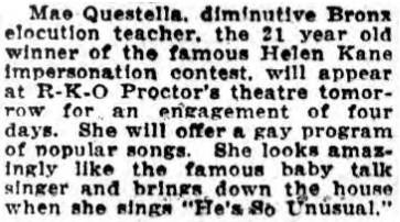 Mae Questella 1929 He's So Unusual.png