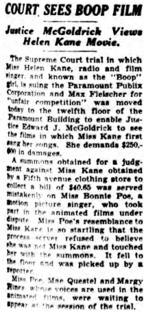April 1934 Bonnie Poe Mistaken for Helen Kane.png