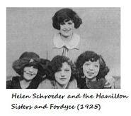 Helen Schroeder aka Helen Kane Hamilton Sisters and Fordyce 1925