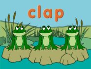 Frog Word Morph cap, clap, lock, clock