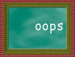 Chalkboard Word Morph oops, loops, loons, balloons