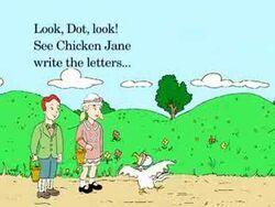 Chicken Jane Scot talks Dot.jpg