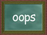 Chalkboard Word Morph oops, loops, loop, loose