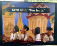 The Monkey Pop-Up Theater Sven Said, Ten Tents, Ted Sent Ten Cents 4