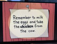 The Lone Rearranger Rewrites Again Remember to Milk the Cow and Take the Eggs from the Chicken 5