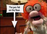 The pen fell on the floor