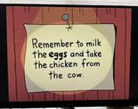 The Lone Rearranger Rewrites Again Remember to Milk the Cow and Take the Eggs from the Chicken