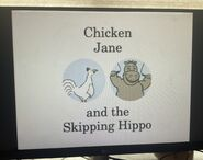 Chicken Jane and the Skipping Hippo Title Card
