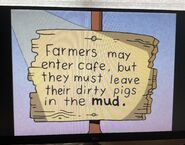 The Lone Rearranger Rewrites Again Farmers May Enter Cafe, But They Must Leave Their Dirty Pigs In The Mud 2