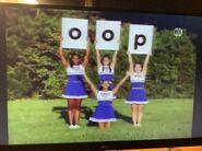 Blue Cheerleaders