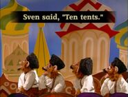 The Monkey Pop-Up Theater Sven Said, Ten Tents, Ted Sent Ten Cents