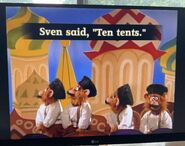 The Monkey Pop-Up Theater Sven Said, Ten Tents, Ted Sent Ten Cents 3