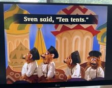 The Monkey Pop-Up Theater Sven Said, Ten Tents, Ted Sent Ten Cents 3.jpg