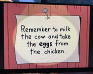The Lone Rearranger Rewrites Again Remember to Milk the Cow and Take the Eggs from the Chicken 6