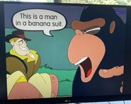 Cliff Hanger and the Big Ape and the Banana Drop