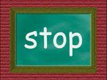 Chalkboard Word Morph stop, top