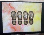 Footprint Word Morph feet, fee, free, freeze
