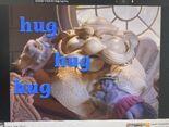 Walter and Clay Pigeon hug, hug, hug