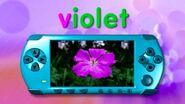 Video Game Console Word Morph village, violet, violin