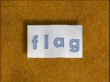 Rectangular Bug Word Morph flag, flat, at, bat, ban