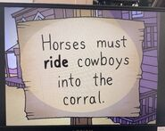 The Lone Rearranger Rewrites Again Cowboys Must Ride Horses Into the Corral