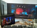 """The Lion family and Larry the Lost Rock watch the video """"Rocket-Doodle-Doo"""""""