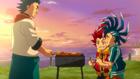 Burst Surge E10 - Noboru Grilling a Special Meal for Hikaru's Entry Into the Legend Festival