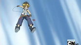 Sora throwing Cyber on the air