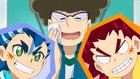 Burst Surge E4 - Hikaru, Hyuga, and Guy
