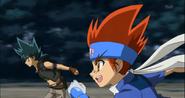 Gingka und Kyoya rennen