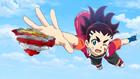 Chouzetsu Muteki Blader! - Aiga Reaching Out for Z Achilles