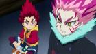 Burst Surge E8 - Lain Trying to Antagonize Hyuga