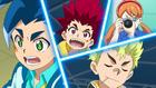 Burst Surge E2 - Hyuga, Hikaru, Rantaro, and Reina