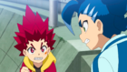 Burst Surge E9 - Hikaru and Hyuga Wanting to Defeat Lain