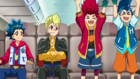 Burst Surge E4 - Hikaru and Hyuga After Discovering That They Can Participate in the Legend Festival If They Defeat Free