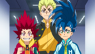 Burst Surge E11 - Hikaru, Hyuga, and Rantaro Entering the Training and Waiting Room Floor