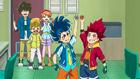 Burst Surge E1 - Hikaru and Hyuga and Their Completed Lightning Beys