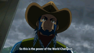 Taiga witnessed the power of the World Champion